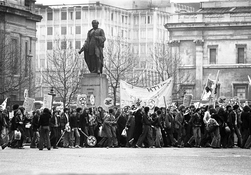 Rock Against Racism march in Trafalgar Square, 1978