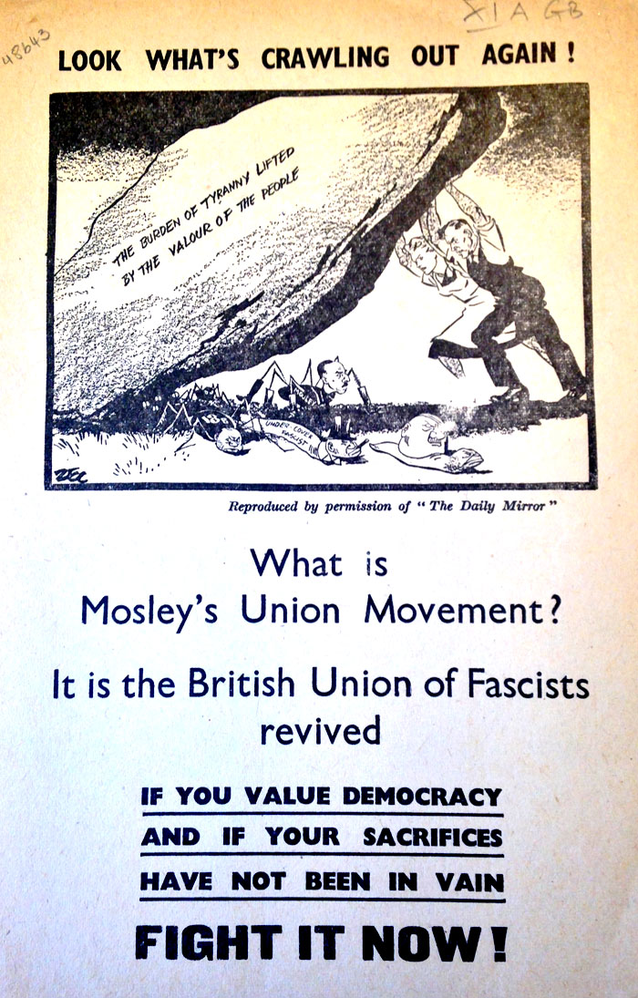Antifascist leaflet widely distributed by AJEX