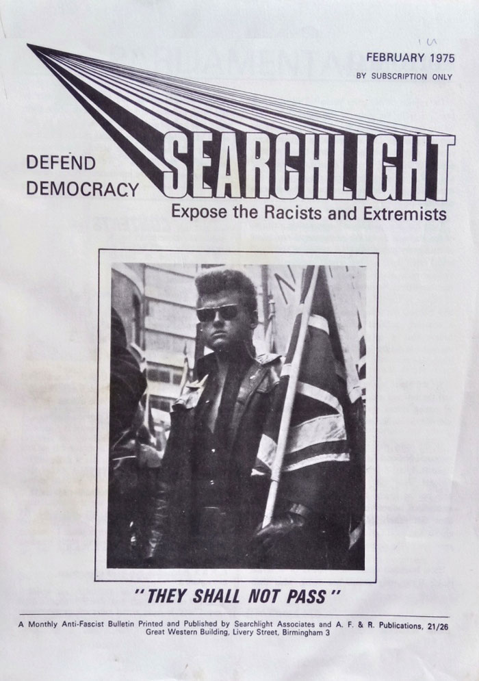 The first copy of Searchlight, 1975